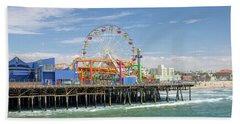 Sunny Day On The Santa Monica Pier Beach Towel