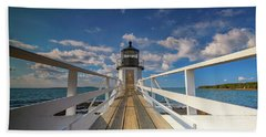 Beach Towel featuring the photograph Sunny Skies At Marshall Point by Rick Berk