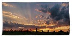 Sunrays At Sunset Beach Towel