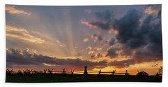 Sunrays At Sunset Beach Sheet