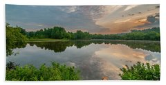 Beach Towel featuring the photograph Sunrise At Ross Pond by Matthew Irvin
