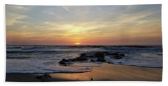 Sunrise At The 15th St Jetty Beach Towel