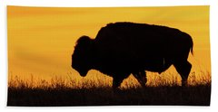 Sunrise Bison Beach Towel