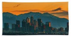 Sunrise In La Beach Towel