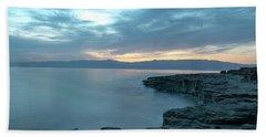 Before Dawn At The Dead Sea Beach Towel