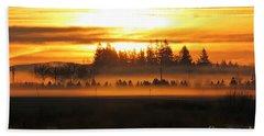 Sunrise Over The Wetlands Beach Towel