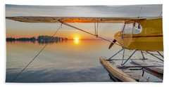 Sunrise Seaplane Beach Towel
