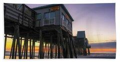 Sunrise Under The Pier Beach Towel
