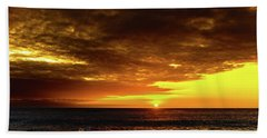 Sunset And Surf Beach Towel