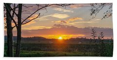 Beach Towel featuring the photograph Sunset by Anjo Ten Kate