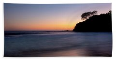 Sunset At Abalone Cove Beach Towel