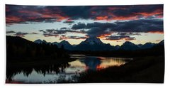 Sunset At Oxbow Bend Beach Towel