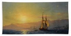 Sunset At Sea, 1877 Beach Towel