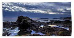 Beach Towel featuring the photograph Sunset At Shell Beach by John Rodrigues