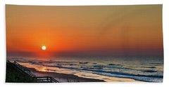 Sunset At Surf City Nc Beach Towel