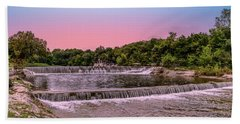 Sunset At The Falls Beach Towel