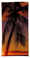 Sunset At The Palm Beach Towel