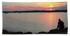 Sunset At The Park Beach Towel
