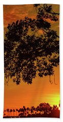 Sunset By The Pier Beach Towel