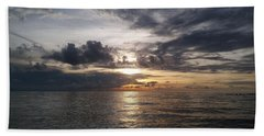 Golden Sunset Beach Towels