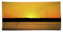 Sunset From National Harbor Beach Towel