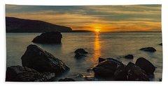 Sunset In Balandra Beach Towel