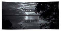 Sunset In Black And White Beach Towel