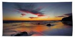 Sunset In Malibu Beach Towel