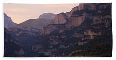 Beach Towel featuring the photograph Sunset In The Anisclo Valley by Stephen Taylor