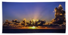 Beach Towel featuring the photograph Sunset In The Bahamas by Dawn Richards
