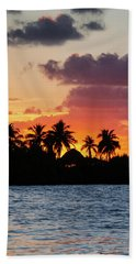 Sunset In The Florida Keys Beach Towel
