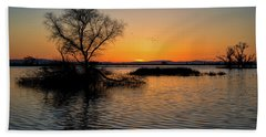 Sunset In The Refuge Beach Towel