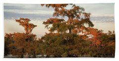 Sunset In The Swamps Of Caddo Lake, Texas Beach Towel
