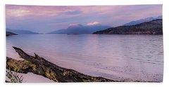 Sunset In Ushuaia Beach Sheet