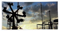 Beach Towel featuring the photograph Sunset On Coney Island by Geraldine Gracia