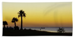 Sunset On Copano Bay, Texas Beach Towel