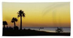 Sunset On Copano Bay, Texas Beach Sheet