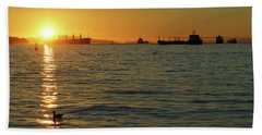 Sunset Over English Bay Beach Towel