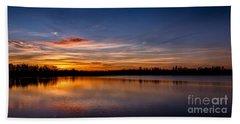 Sunset Over Laupheim Quarry Beach Towel