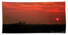 Sunset Over Philly Beach Towel