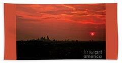 Sunset Over Philly Beach Sheet