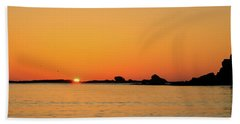Sunset Over Sunset Bay, Oregon 4 Beach Towel