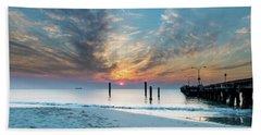 Sunset Seascape And Beautiful Clouds Beach Sheet