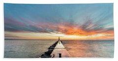 Sunset Skies Over Frankfort Beach Towel