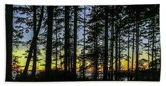 Sunset Thru The Trees Beach Towel