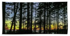Sunset Thru The Trees Beach Towel