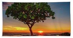 Sunset Tree Beach Sheet