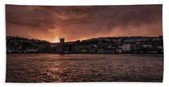 Sunset Harbour Beach Towel