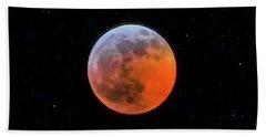 Super Blood Moon Eclipse 2019 Beach Towel