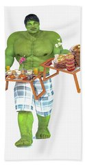 Super Morning Hero Breakfast Beach Towel